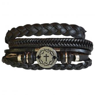 FGBJ 167 Armbånd Faith Gear - Crown Cross